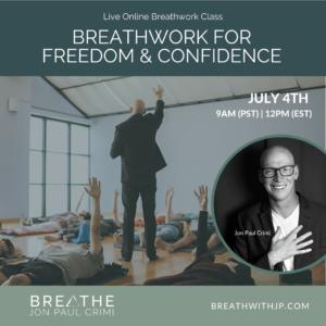 July 4, 2021 live online zoom breathwork class with Jon Paul Crimi