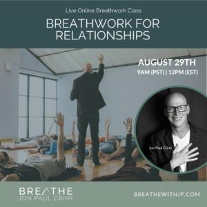August 29, 2021 Live online zoom breathwork class