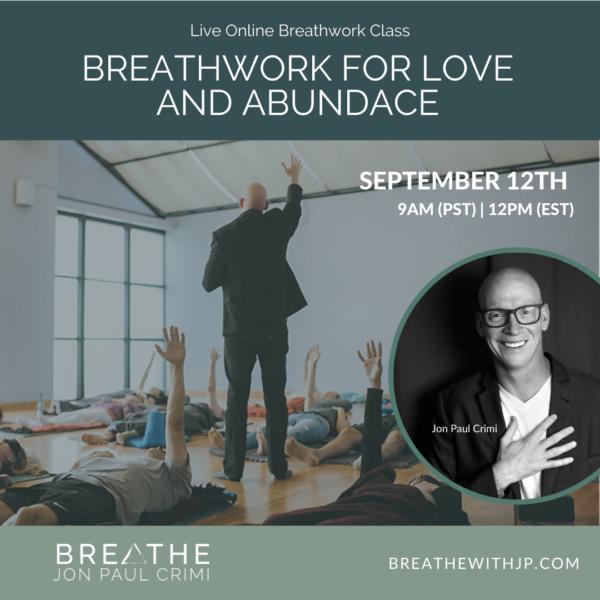 September 12, 2021 Live online zoom breathwork class